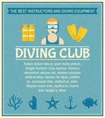 Diving club poster
