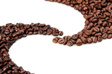 Coffee beans oval