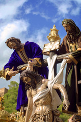 MALAGA, SPAIN - APRIL 09: traditional processions of Holy Week i