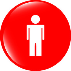 icon button with man inside