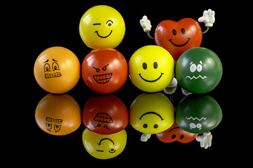 Stress balls with many different personality