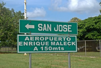 San Jose and Airport sign