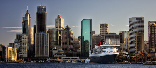 Cruise ship in Circular Quay, Sydney