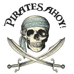 pirates symbol with skull and crossed sabers