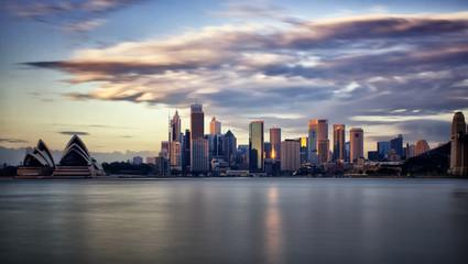 Downtown Sydney at sunrise