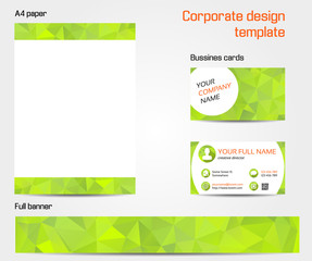 Green corporate design template set