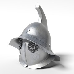 3d illustration of a gladiator helmet.