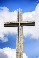 Cross detail, Valley of the Fallen (Valle de los Caidos), Madrid