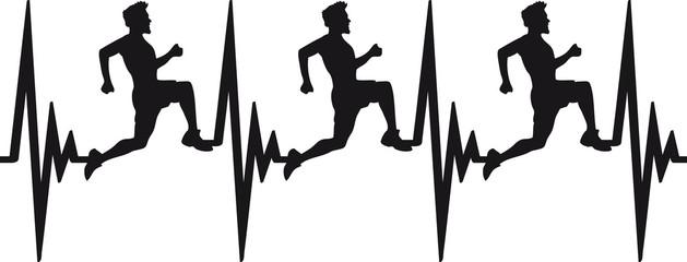 Herzschlag Puls Frequenz Team Rennen