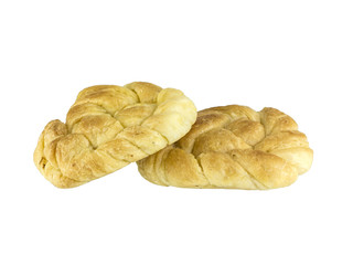 Spiral bread isolated on white background