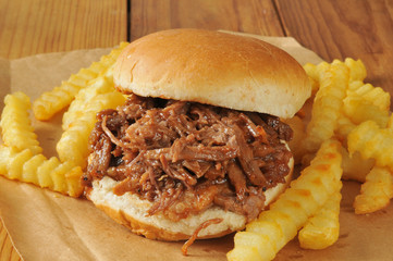 Barbecue beef sandwich