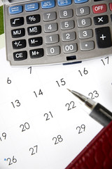 calendar with calculator