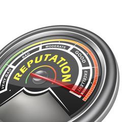vector reputation conceptual meter indicator