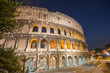 Rome, Italy. Wonderful view of Colosseum at dusk