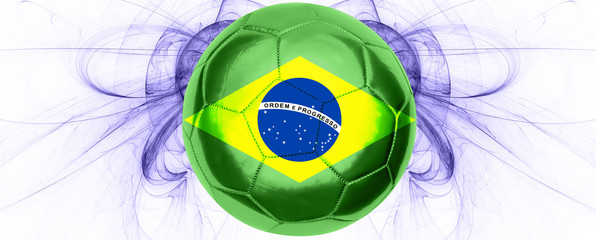 Brasilianischer Fussball Banner