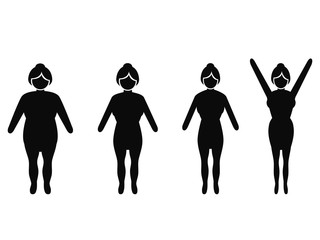 female weight loss silhouettes