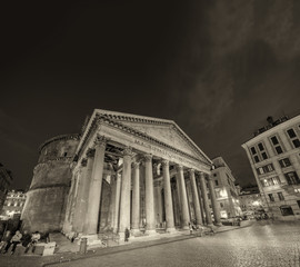 Rome. The Pantheon on a beautiful summer night