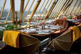 served table on the veranda - 66594468