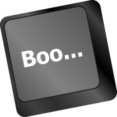 boo word on computer keyboard keys
