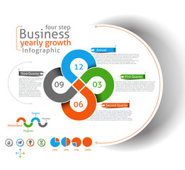 Set of Business Infographic Vector Background.