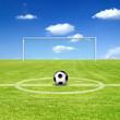 Perfektes Fussballfeld