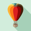 Hot air balloon in flat design style. - 66595443