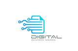 Business Technology logo. Document Circulation system - 66595484