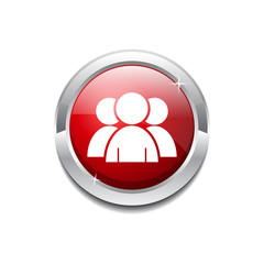 User Circular Vector Red Web Icon Button