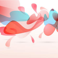 Abstract red liquid elements design background