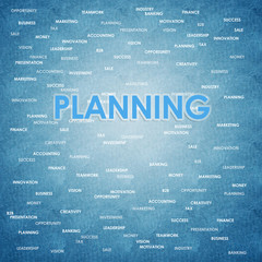 Planning business concept