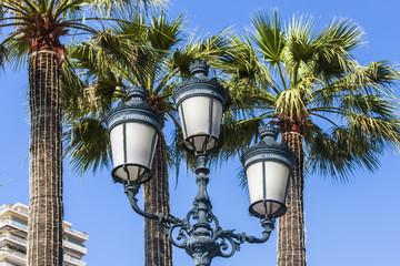 Principality of Monaco. Ancient streetlight