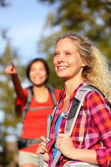 Young women hikers