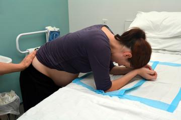 Pregnancy - pregnant woman having contraction