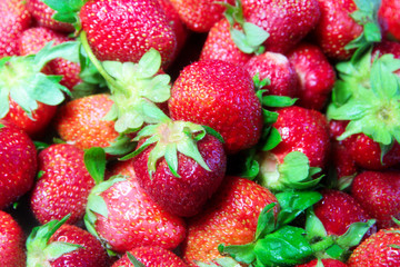 Fresh juicy berry strawberry as part vitamins meal