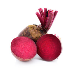 beetroot over white background