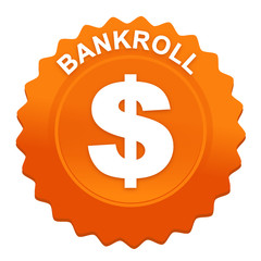 bankroll sur bouton web denté orange
