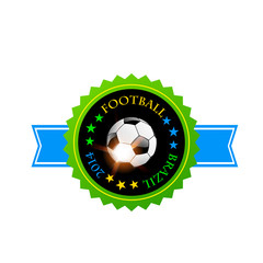 Brazil vector badge with Football ball