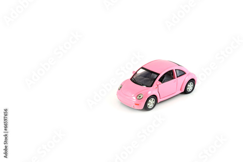 Toy car isolated on white - 66597656