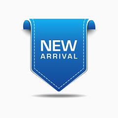 New Arrival Blue Label Icon Vector Design