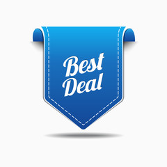 Best Deal Blue Label Icon Vector Design