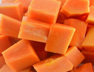 Sweet papaya fruit for a healthy
