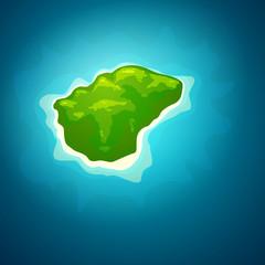 Vector Illustration of an Island