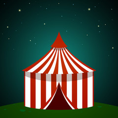 Vector Illustration of a Circus Tent