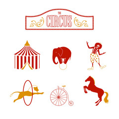 Vector Illustration of Circus Design Elements