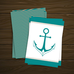Vector Illustration of a Nautical Flyer Template