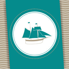 Vector Illustration of a Nautical Background