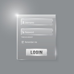 Login and register web glossy form