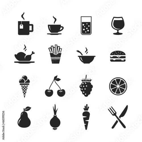 Food and drinks icon set - 66599256