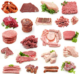 Collage de carnes