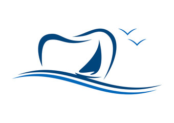 natural Dental sea wind logo
